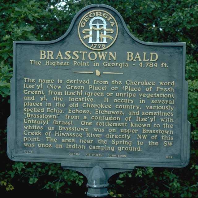 Whispering Pines Campground Brasstown Bald - Georgia map brasstown bald